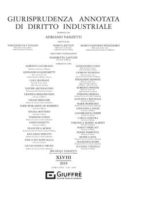 GIURISPRUDENZA ANNOTATA DI DIRITTO INDUSTRIALE 2019
